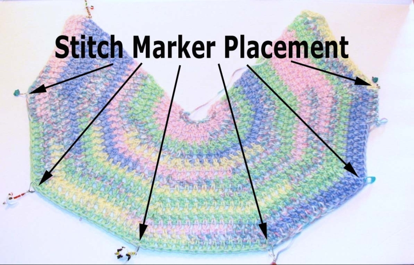 stitch marker placement
